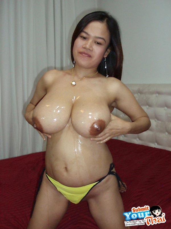 Asian girl with hude rack