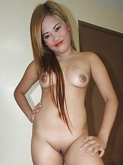 Asian bargirl\'s shaved twat very tight for white dick
